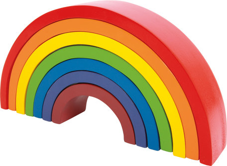 Houten regenboog blokken - Large - 7 kleuren
