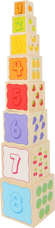 Stapel blokken met vrolijke dieren - Multi kleuren