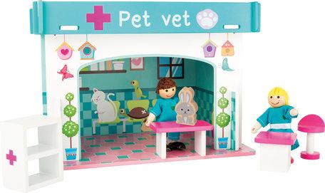 Speelhuis dieren arts met accessoires