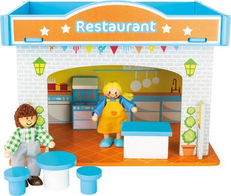 Speelhuis restaurant met accessoires
