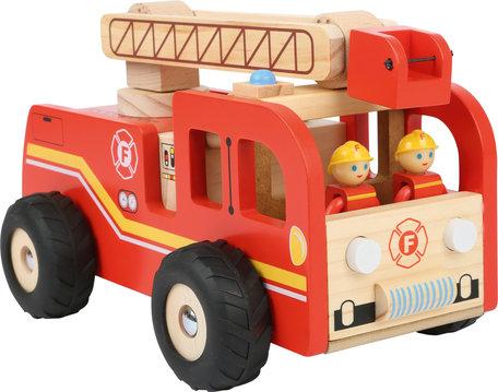 Brandweerauto met roterende ladder