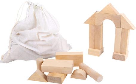 Houten blokken + handige tas (50 grote blokken)