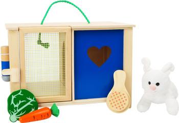 Konijnenhok met accessoires - zorg speelgoed