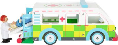 Ambulance - noodvoertuig - hout