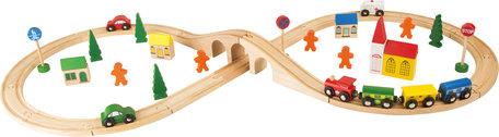 Treinbaan set groot (spoorwegset met 51 stuks) - spoorwegen