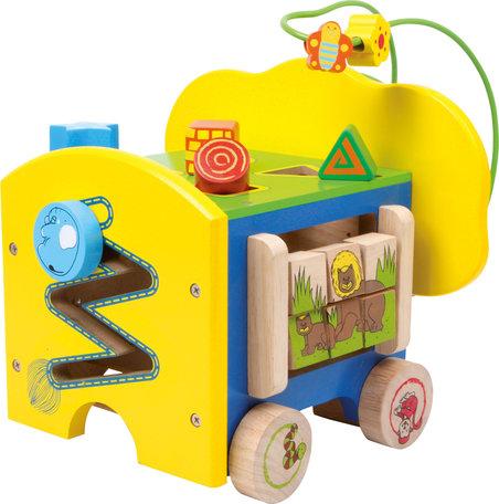 Activiteitenkubus op 4 wielen