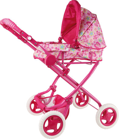 Poppenwagen - roze