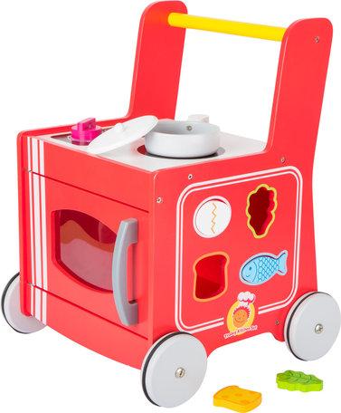 Loopwagen met keukentje - Rood
