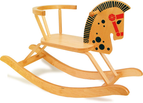 Hobbelpaard met veilige stoel en rugleuning