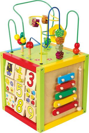 Activiteiten kubus + leren schrijven + muziek maken - Large - 30 x 30 x 54 cm