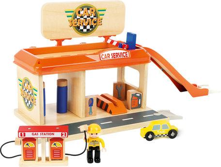 Auto garage met tankstation