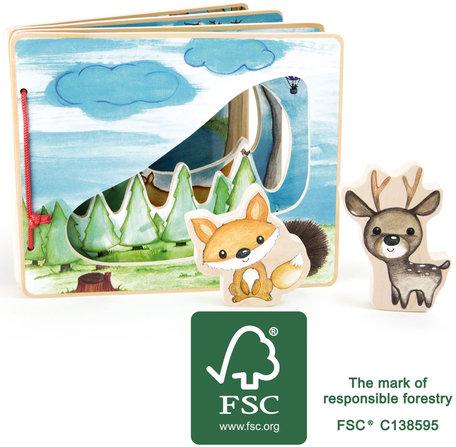 Plaatjes boek - in het bos - interactief - FSC