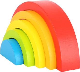 Houten bouwblokken - regenboog