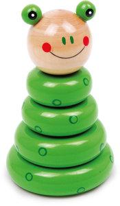 Stapel speelgoed - kikker - groen
