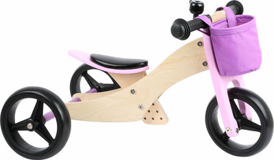 Trainingsfiets 2-in-1 Trike Roze