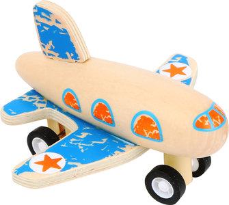Blauw vliegtuig - terugtrek mechanisme