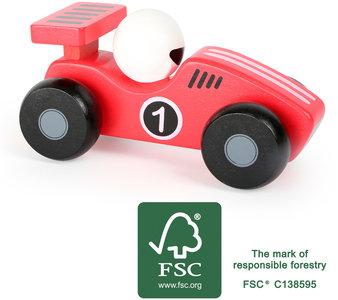 De rode race auto - FSC