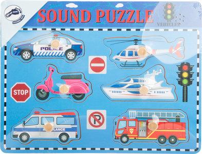 """Puzzel """"Voertuigen met geluid"""""""