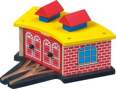 Garage voor locomotief - spoorwegen