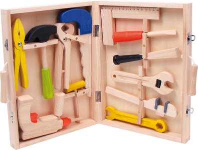 Speelgoed gereedschapskist - 12 stuks gereedschap