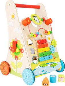 Loopwagen met verschillende leerzame spellen - Multi kleuren