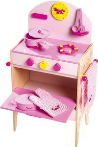 Houten keukentje met 8 delig accessoire set