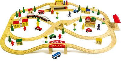 Treinset XXL - 101 stuks - spoorwegen