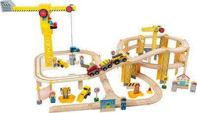 Treinbaan met bouwplaats XL - 87 stuks - spoorwegen