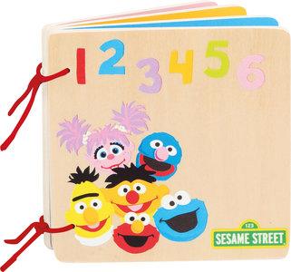 Sesamstraat nummers & kleuren - houten boekje - FSC