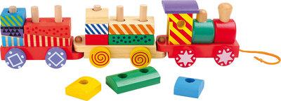 """Trekfiguur houten trein """"Bright Colours"""""""