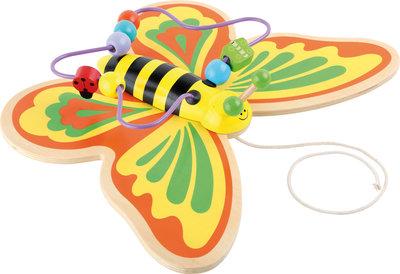 Trek figuur en kralenspiraal - vlinder