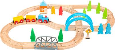 """Junior collectie - houten treinbaan """"de grote reis"""""""