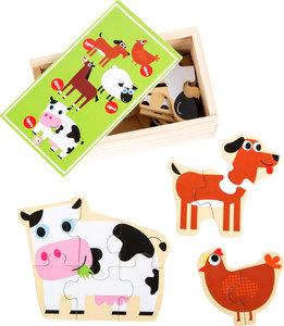 """Puzzelbox """"dieren op de boerderij"""""""