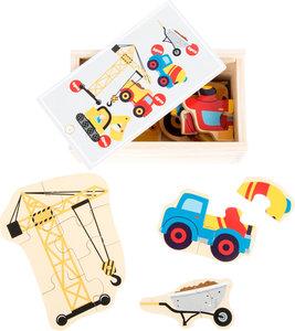 "Puzzelbox ""bouwwereld"" - 5 puzzels"