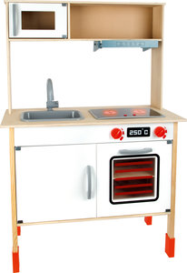 Moderne speelkeuken van hout (in hoogte verstelbaar)