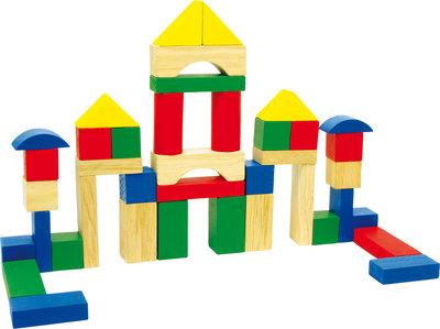 Ton met 40 kleurrijke houten blokken (vanaf 12 maanden)