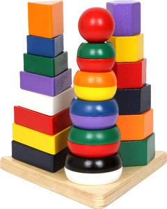 Stapelblokken pyramide - 3 in 1 - Multi kleuren