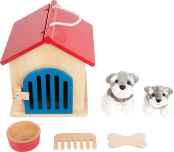 Honden kennel met accessoires - zorg speelgoed